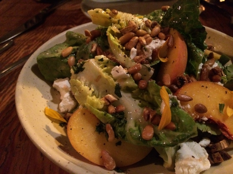 Gem Lettuce with Buttermilk Peach Dressing